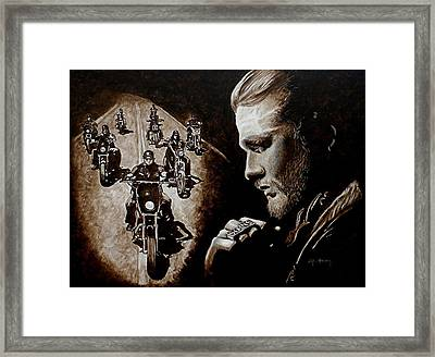 Farewell To The Outlaw Framed Print