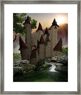 Farytale Castle Framed Print by Suzanne Amberson