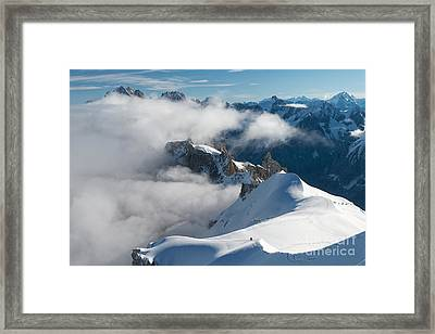 Fascinating Alpine World Chamonix Framed Print