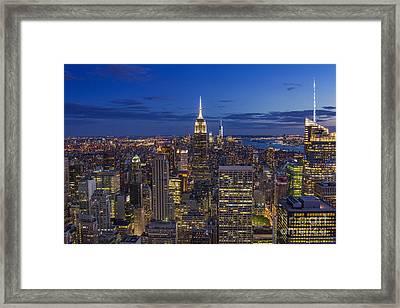 Fascinating City Lights Framed Print by Marco Crupi