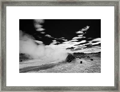 Fascinating Icelandic Nature Black And White Framed Print