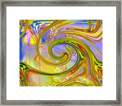 Framed Print featuring the digital art Fascinating by rd Erickson