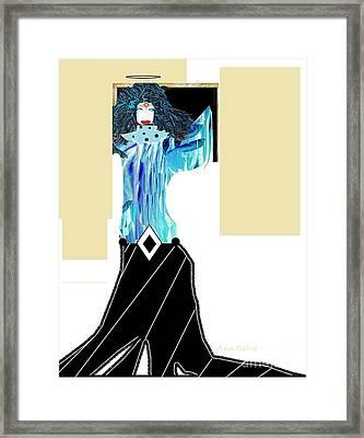Framed Print featuring the digital art Fashion Angel by Ann Calvo