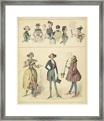 Fashion Framed Print by British Library