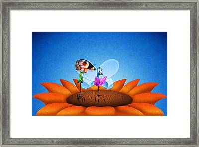 Fashion Butterfly Framed Print by Gianfranco Weiss
