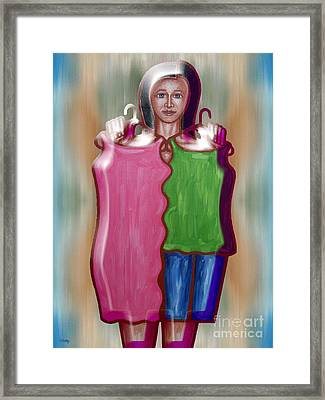 Fashion Dilemma Framed Print by Patrick J Murphy