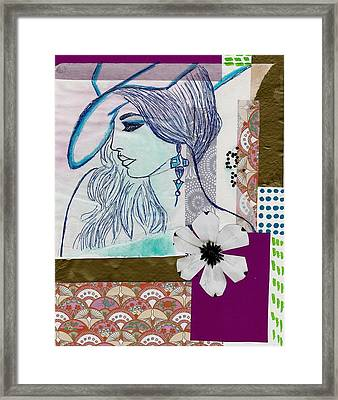 Fashion Girl Collage Framed Print