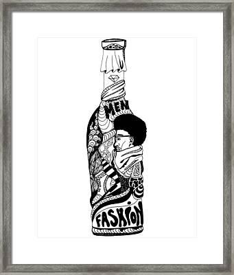Fashion In A Bottle Framed Print by Kenal Louis