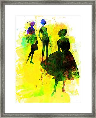 Fashion Models 2 Framed Print by Naxart Studio