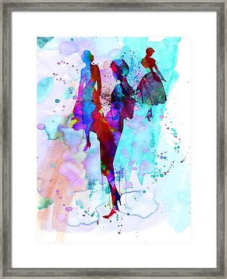 Fashion Models 7 Framed Print by Naxart Studio