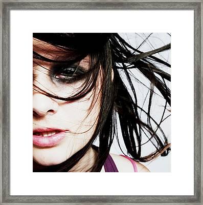 Fashion Shot Framed Print by Ashley Armstrong
