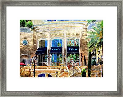 Fashion Vegas Style Framed Print by Barbara Chichester