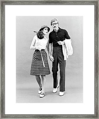 Fashionable Couple Golf Attire Framed Print by Underwood Archives