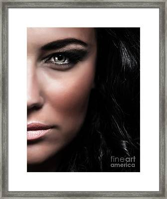 Fashionable Female Portrait Framed Print