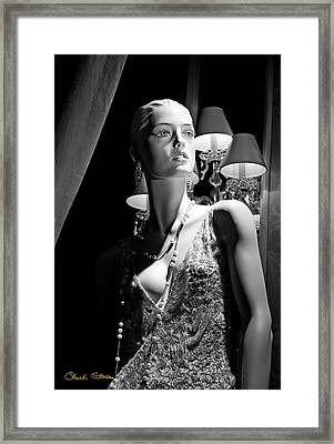 Fashionable Lady Framed Print