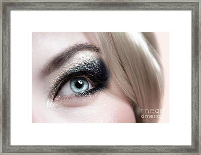 Fashionable Makeup Framed Print by Anna Om