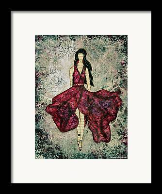 Purple Dress Framed Prints