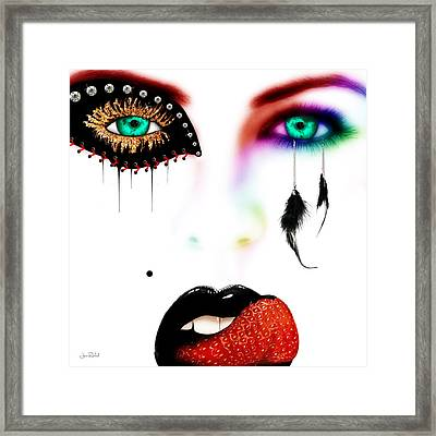 Fashionista Soft Rainbow Framed Print