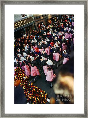 Fasnet Festival In Schramberg Germany Framed Print by Wernher Krutein