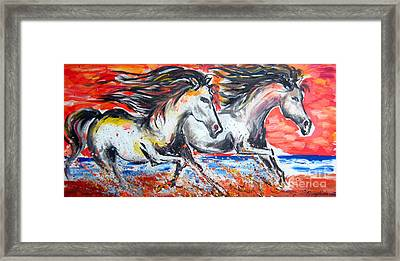 Fast And Furious And Free At Sunset Framed Print