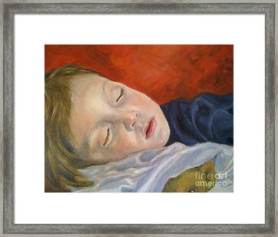 Fast Asleep Framed Print by Hope Lane