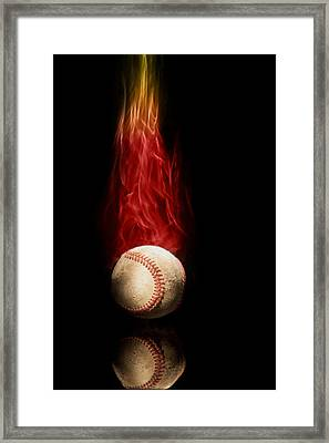 Fast Ball Framed Print by Tom Mc Nemar