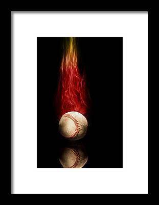 Fire Ball Framed Prints