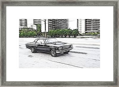 Fast Fairlane Framed Print by Thomas  MacPherson Jr