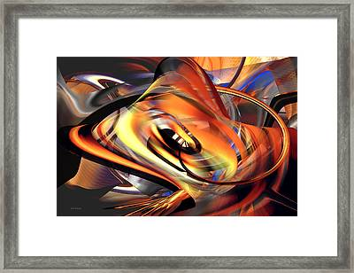 Fast Fire - Abstract Framed Print
