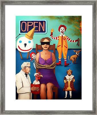 Fast Food Nightmare 3 Edit 5 Framed Print
