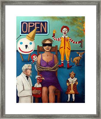 Fast Food Nightmare 3 Framed Print by Leah Saulnier The Painting Maniac