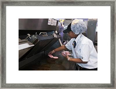 Fast Food Restaurant Framed Print by Jim West