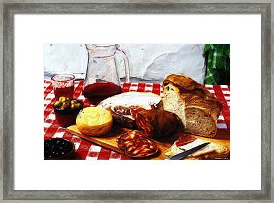 Fast Food - Spain Framed Print
