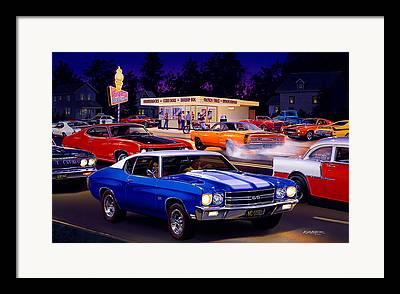 1970 Dodge Super Bee Framed Prints