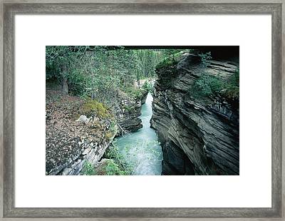 Fast Moving Water Framed Print by Dick Willis