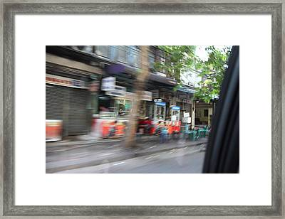 Fast Paced City Life - Bangkok Thailand - 01132 Framed Print by DC Photographer