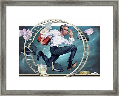 Fast-paced Lifestyle Framed Print by Smetek