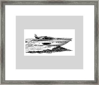 Fast Riva Motoryacht Framed Print by Jack Pumphrey