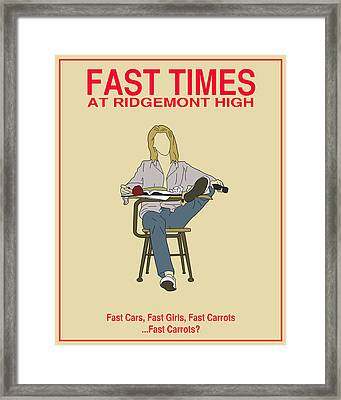Fast Times At Ridgemont High Framed Print