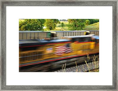 Framed Print featuring the photograph Fast Train by Bill Kesler