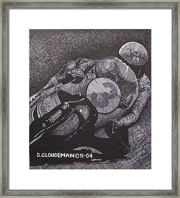 Faster Framed Print by Denis Gloudeman