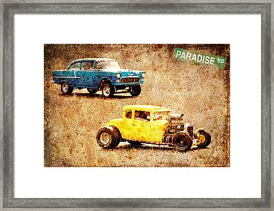 Fastest Car In The Valley Framed Print