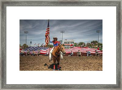 Fastest Rodeo On Earth Framed Print