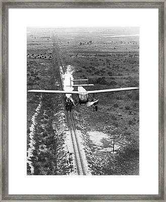 Fastest Transportations Meet Framed Print