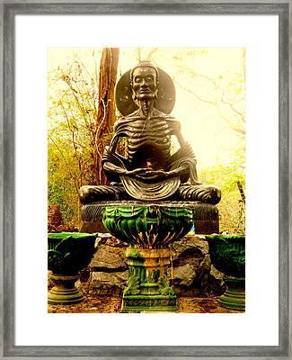 Fasting Bodhisatva Framed Print by Ashley Ann Austin