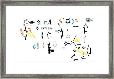Fastlife Framed Print