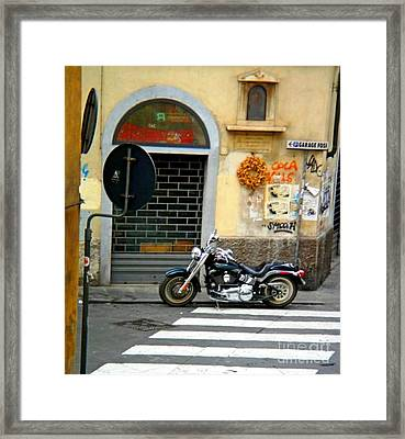 Fat Boy In Florence Framed Print