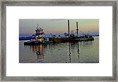 Fat Cat At Sunset Framed Print by Joseph Coulombe