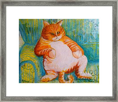 Fat Cat Framed Print by Deborah Burow
