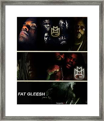 Fat Gleesh Framed Print by HI Designs Amor Blu Group LLC